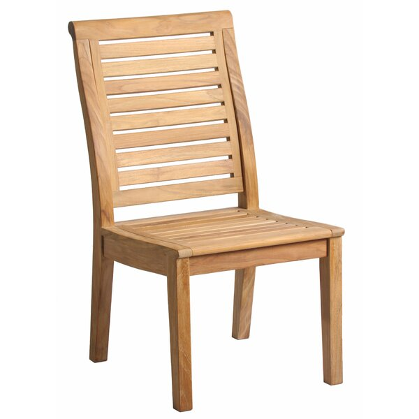 Lowery Teak Patio Dining Chair by Rosecliff Heights
