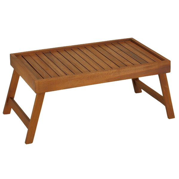Coco Bed Tray Table in Solid Teak Wood by Bare Decor