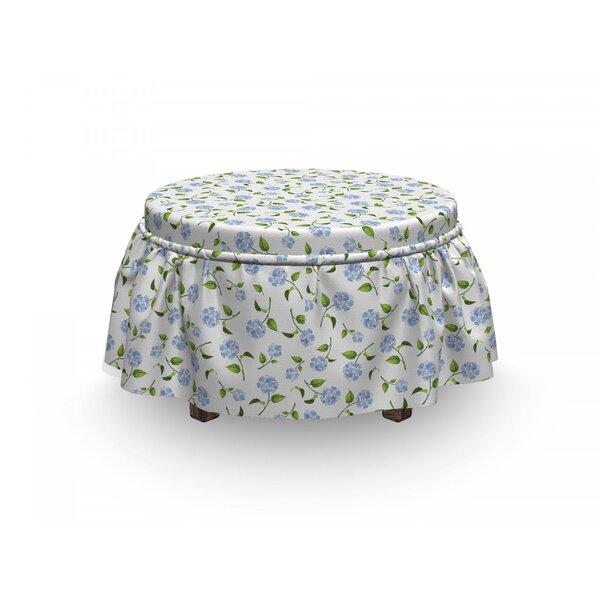 Check Price Hydrangea Ottoman Slipcover (Set Of 2)