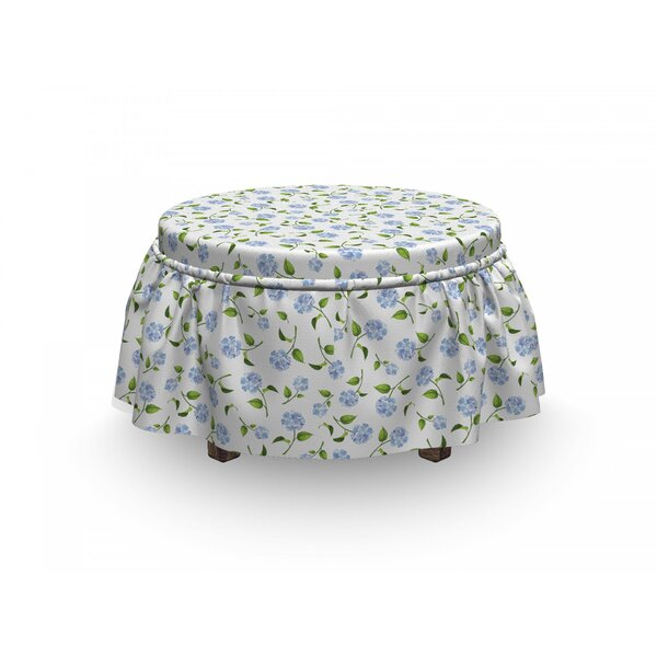 Hydrangea Ottoman Slipcover (Set Of 2) By East Urban Home