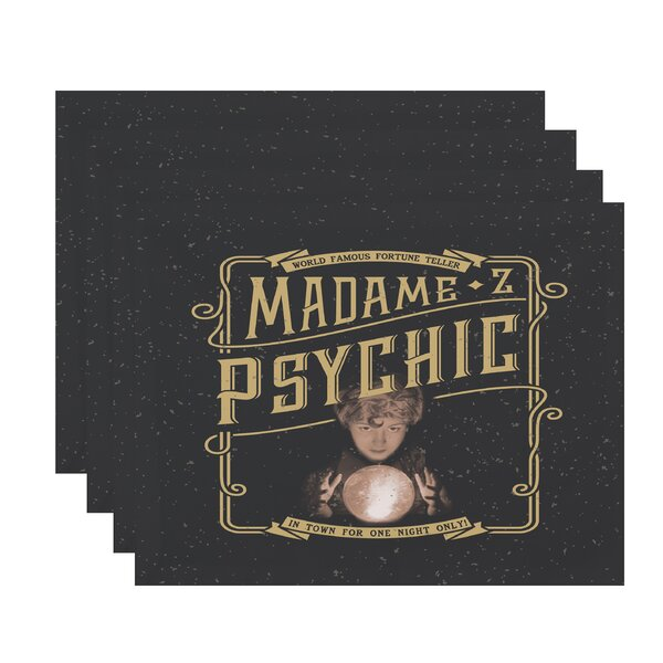 Maser Madame Psychic Halloween 18 Placemat (Set of 4) by The Holiday Aisle