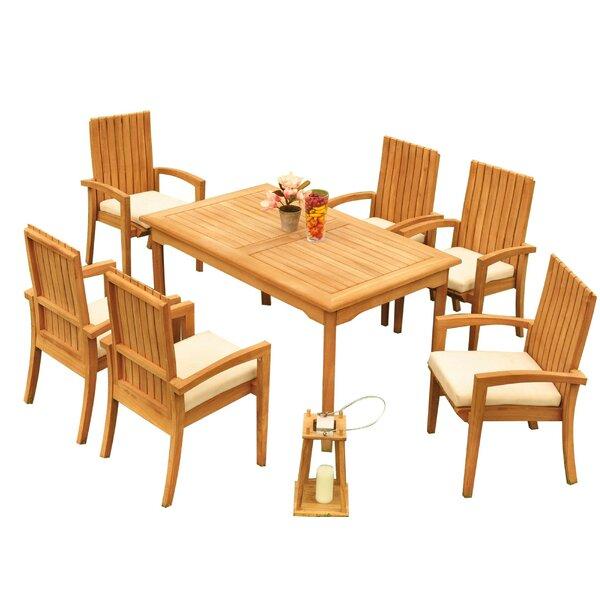 Wilkinson 7 Piece Teak Dining Set Bayou Breeze W001959724
