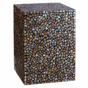 Incroyable Fusion Crackle Mosaic Square Side Table