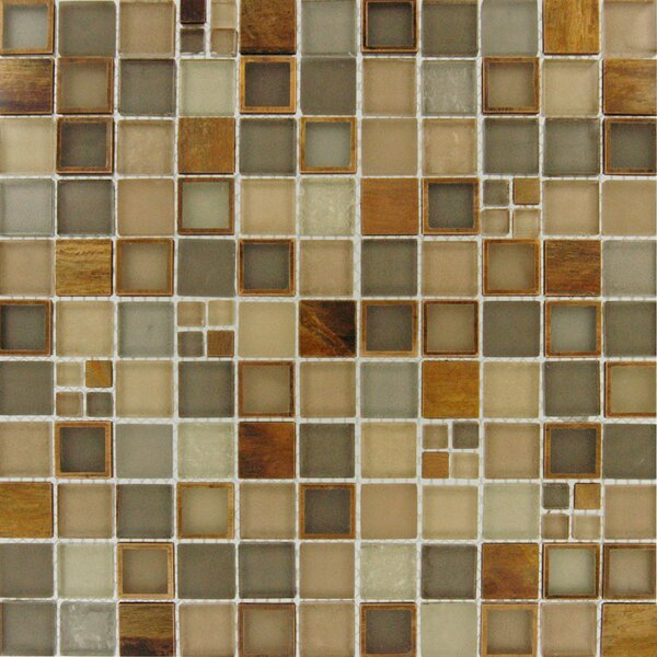Manhattan Mounted Blend Random Sized Glass and Metal Mosaic Tile in Brown by MSI