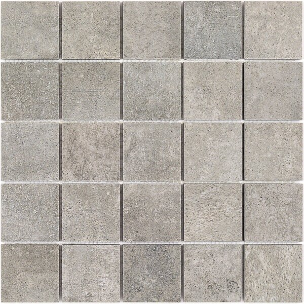 Malaga 2 x 2 Porcelain Mosaic Tile in Greige by Splashback Tile