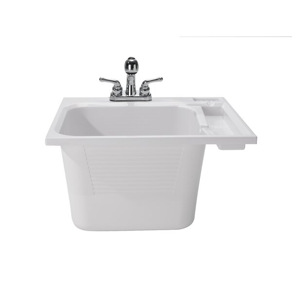25 x 22 Drop-In Laundry Sink with Faucet by Cashel
