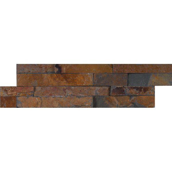 Gold Rush Slate Mosaic Tile in Brown by MSI