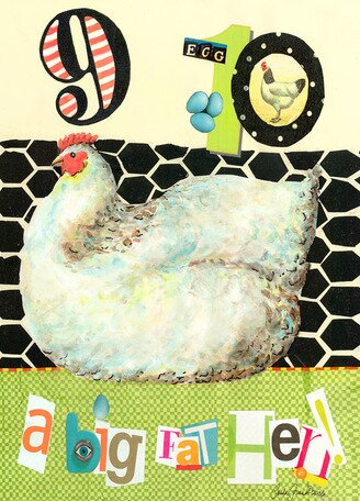 9, 10 A Big Fat Hen Canvas Art by Oopsy Daisy