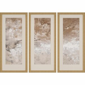 Earthen II 3 Piece Framed Graphic Art Set by Paragon