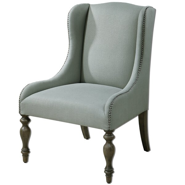 Kaiya Wingback Chair by One Allium Way