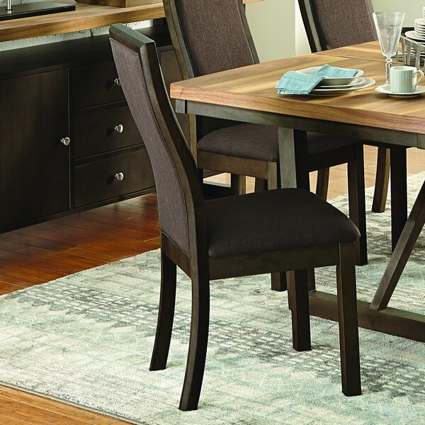 Delwood Upholstered Dining Chair (Set of 2) by Loon Peak