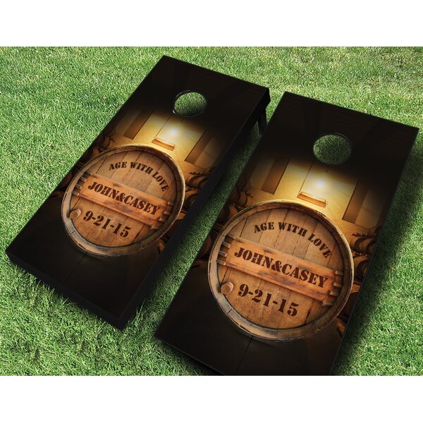 Age With Love Wedding Cornhole Set by AJJ Cornhole