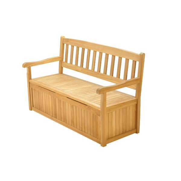 Magallanes Grade-A Luxurious  Teak Storage Bench by Highland Dunes