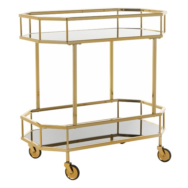 Beaminster Octagon Bar Cart by Everly Quinn