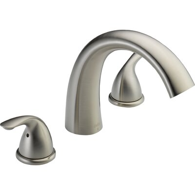 Deck Mount Double Handleed Tub Faucet Trim Stainless photo