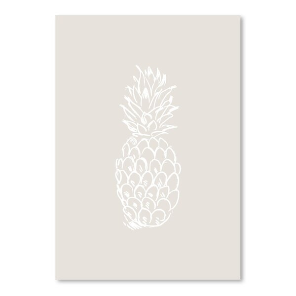 Beige White Pineapple Poster Gallery Graphic Art by Bay Isle Home
