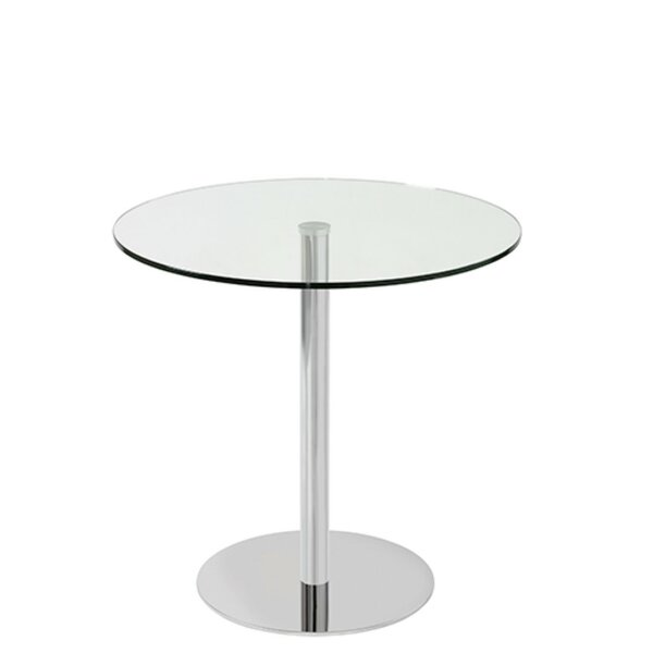 Heffernan Glass Steel Dining Table by Orren Ellis