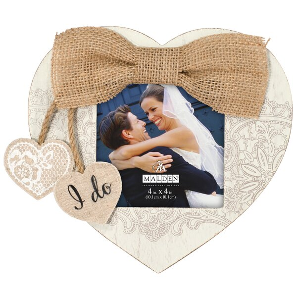 I Do Heart Picture Frame by Malden