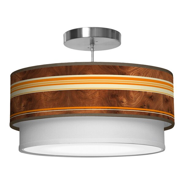 Judy 3 - Light Shaded Drum Chandelier By Corrigan Studio
