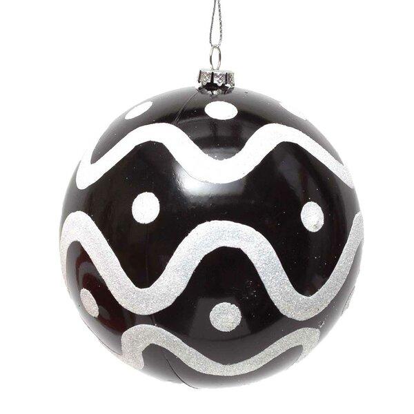Glitter Swirl Ball Ornament (Set of 2) by ZiaBella