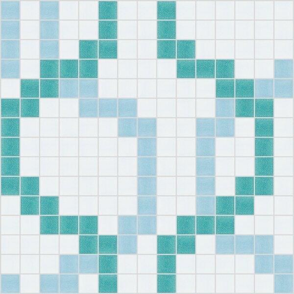 Urban Essentials Wandering 3/4 x 3/4 Glass Glossy Mosaic in Deep Teal by Mosaic Loft
