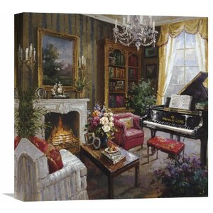 'Grand Piano Room' by Foxwell Painting Print on Wrapped Canvas by Global Gallery