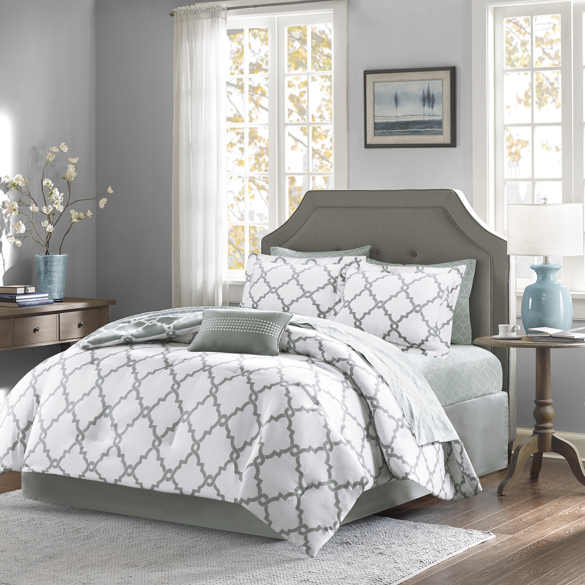 Willa Arlo Interiors Geometric 7 Piece Bed In A Bag Reversible Comforter Reviews Wayfair Ca