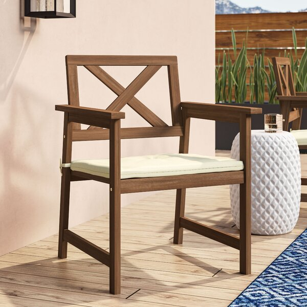 Arianna Patio Chair with Cushion by Langley Street