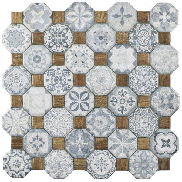 Edredon 12.25 x 12.25 Ceramic Tile in Blue/Gray by EliteTile