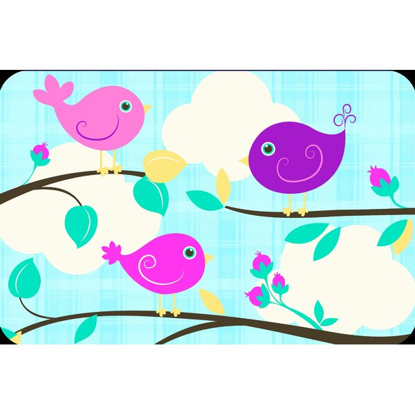 Three Birds Juvenile Vinyl Placemat (Set of 6) by Elrene Home Fashions
