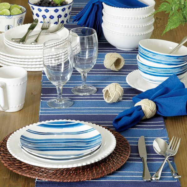 Milford 16 Piece Dinnerware Set, Service for 4 by