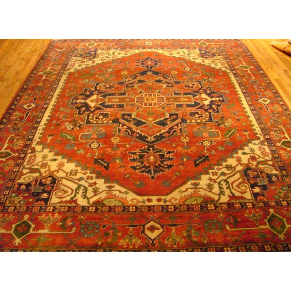 Serapi Hand-Knotted Wool Rust Area Rug by Pasargad