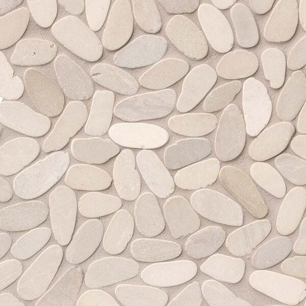 Sliced Earth Random Sized Marble Pebbles/Rocks Tile in Beige by MSI