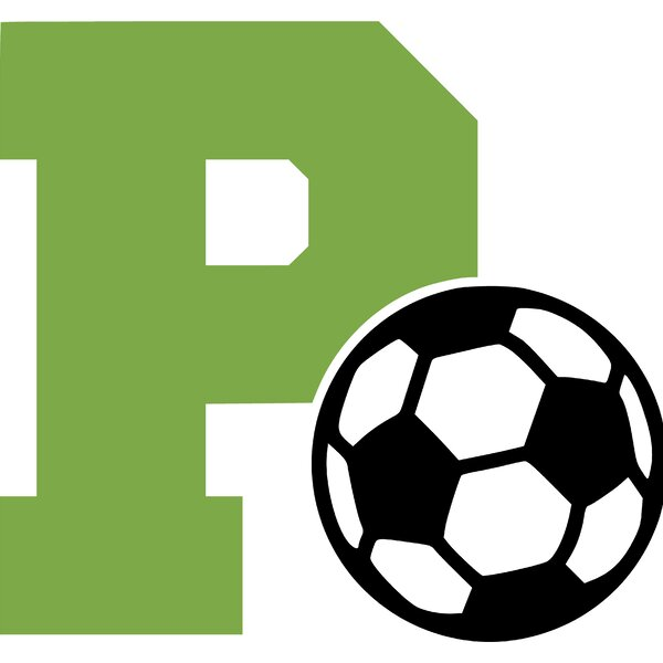 Letter P and Soccer Ball Wall Decal by Enchantingly Elegant