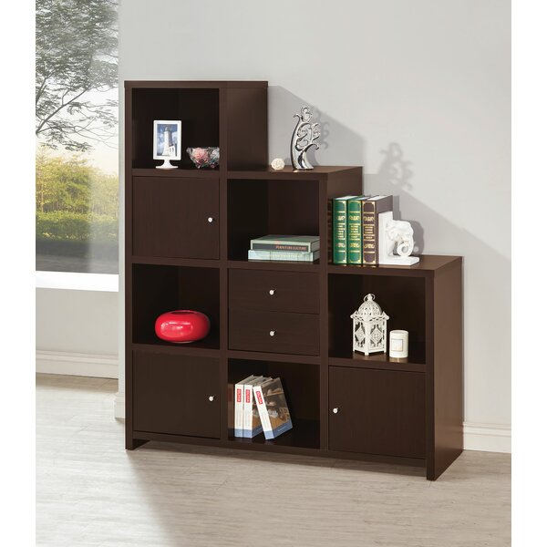 Stasya Asymmetrical Reversible Step Bookcase By Latitude Run
