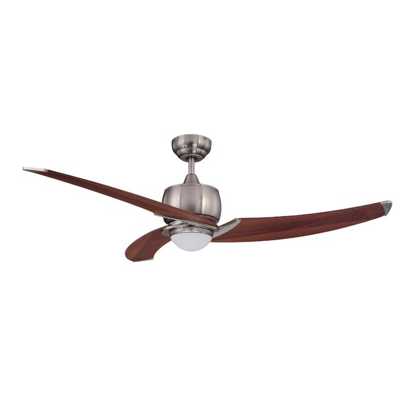 52 Treo 3-Blade Ceiling Fan with Wall Remote by Kendal Lighting
