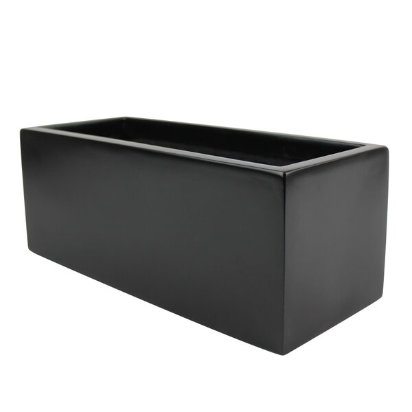 Eyre Rectangle Fiberglass Planter Box by Wrought Studio