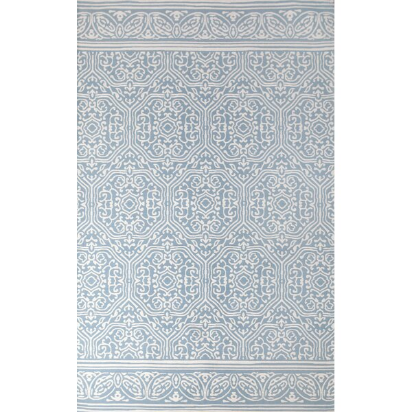 Venezia Hand-Woven Blue/Ivory Indoor Area Rug by Tuft & Loom
