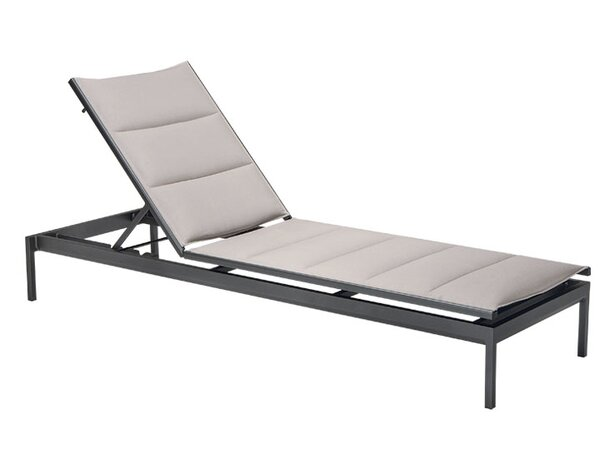 Cabana Club Padded Sling Reclining Chaise Lounge by Tropitone
