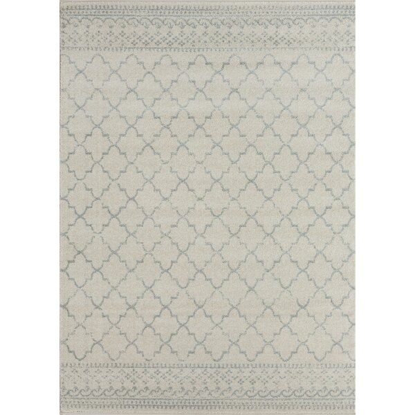Cascio Cream Linen Area Rug by Gracie Oaks