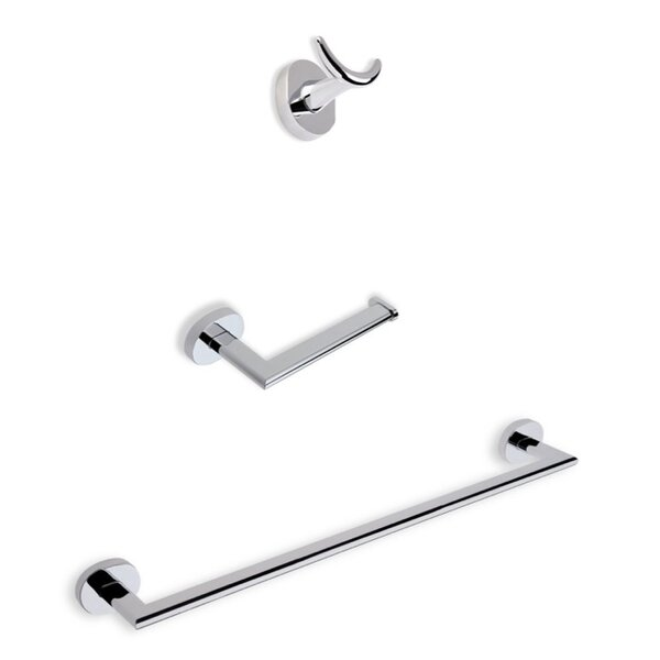 Diana 3 Piece Bathroom Hardware Set by Stilhaus by Nameeks