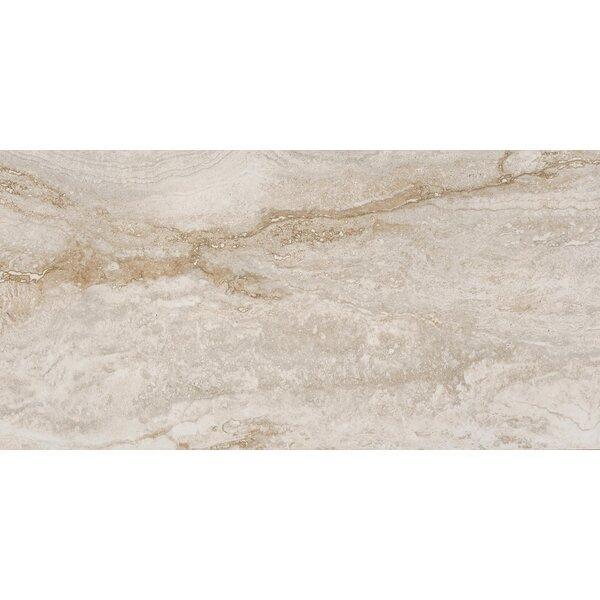 Bernini Bianco 12 x 24 Porcelain Field Tile in Cream/Warm gray by MSI