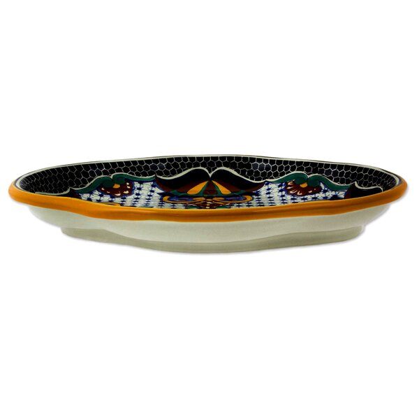 Talavera Authentic Handcrafted Platter by Novica