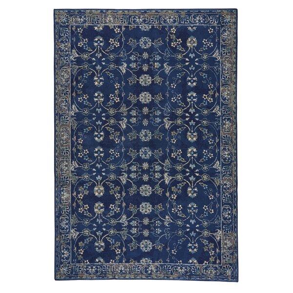 Reardon Keshan Wool Dark Blue Area Rug by Bloomsbury Market