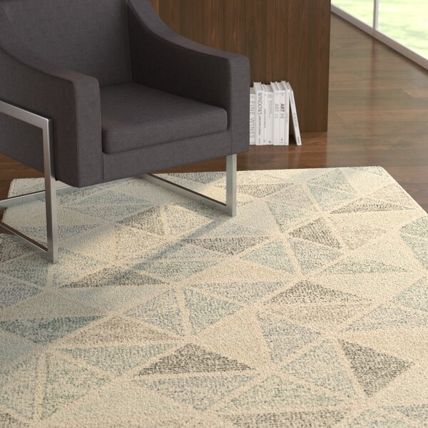 Digby Hand-Tufted Medium Gray Area Rug by Ebern Designs