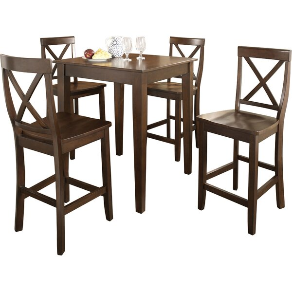 Haslingden 5 Piece Pub Table Set by Three Posts