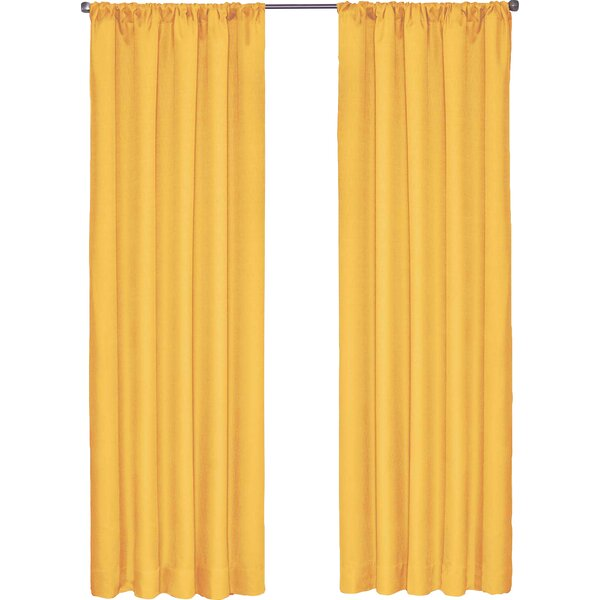 Bailey Jean Solid Blackout Thermal Rod Pocket Single Curtain Panel by Viv + Rae