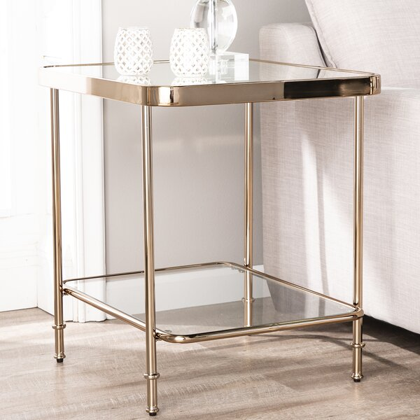 Kimberlin Mirrored End Table By Mercer41 Great Reviews