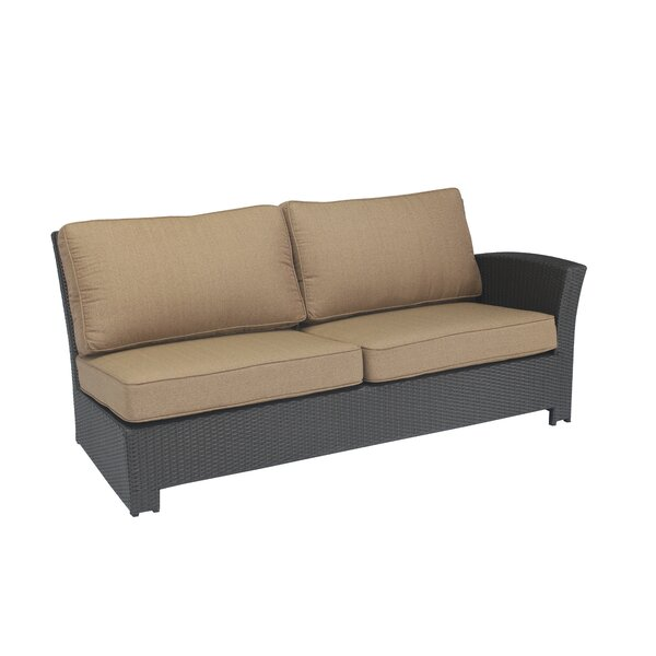 Kissling Wicker Right Arm Loveseat with Cushions by Alcott Hill