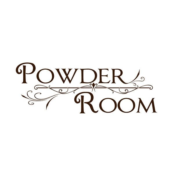 Powder Room Wall Decal by Fireside Home